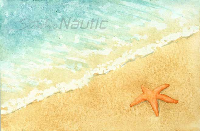 Watercolor Starfish
